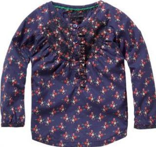 Tommy Hilfiger M�dchen Bluse, gebl�mt CHARLOTTE FLOWER MINI SHIRT L/S / GJ57107595, Gr. 80 (80), Mehrfarbig (470 TWILIGHT BLUE/ MULTI): Bekleidung