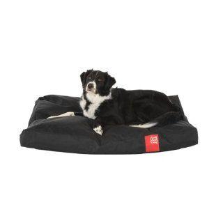 Poi Dog� Large Sitzsack Hundebett   SCHWARZ Polyester Canvas Sitz Sack Hunde Bett   Mittlere / Gro�e Hunde (bis zu 104cm l�nge).: Haustier