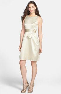 Eliza J Side Bow Jacquard Sheath Dress