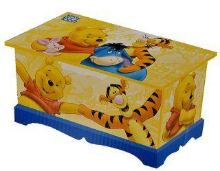 Holzkiste mit Deckel / Aufbewahrungsbox Disney Winnie the Pooh B�r aus Holz   f�r Kinder   Box Truhe M�dchen Jungen Kiste Tonne Ordnungsbox Spielzeugkiste Spielzeugtruhe Spielzeug