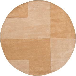 Hand tufted Contemporary Mandara Wool Rug (8' Round) Mandara Round/Oval/Square