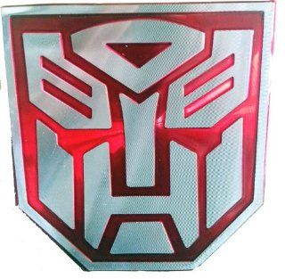 Transformers Autobot Red 3D Laser Reflex Auto Emblem Badge Aufkleber Decal   Large Size: Auto