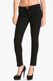 Paige Denim Skyline Ankle Peg Skinny Stretch Jeans (Black Ink)