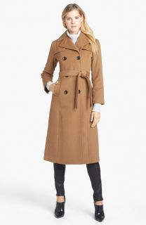 Ellen Tracy Wool Blend Trench Coat (Petite)