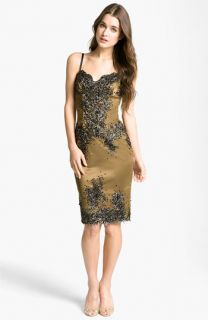 Julian Joyce Embellished Charmeuse Slip Dress