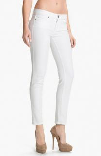 Paige Denim Skyline Ankle Peg Skinny Jeans (Optic White)