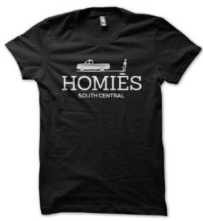 Homies South Central Herren Black Tshirt: Bekleidung