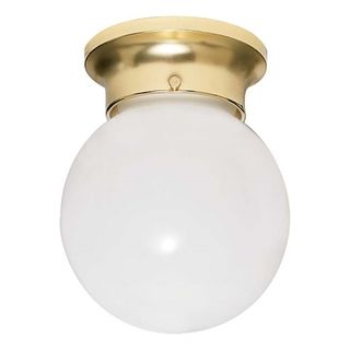 Nuvo Energy Saver 1 light Polished Brass Flush Mount Fixture Nuvo Lighting Flush Mounts