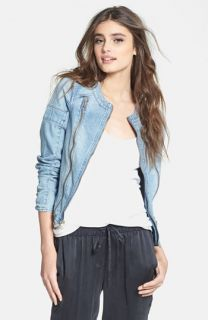 Paige Denim Fairfax Denim Moto Jacket
