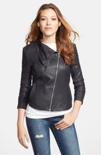 LaMarque Erin Extended Asymmetrical Zip Leather Jacket