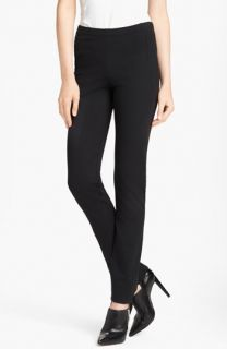 Donna Karan Collection Straight Leg Structured Jersey Pants