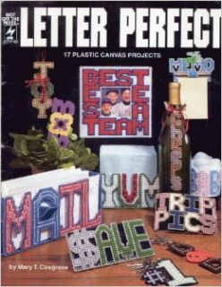 Letter Perfect: 17 Plastic Canvas Projects/185: Mary T. Cosgrove: 9781562310660: Books