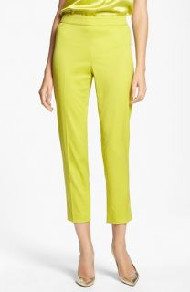St. John Collection Emma Venetian Wool Crop Pants