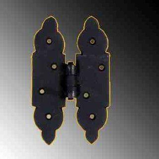 Door Hinges Black Wrought Iron, Cabinet Hinge H HINGE 5 1/8 H x 3 1/8 W in.  15916