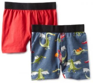 Hatley Boys 2 7 Kids Dragons 2 Pack Boxer, Chex Red, 7: Clothing