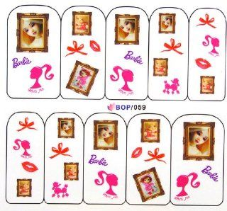 Egoodforyou BLE Water Slide Water Transfer Nail Tattoo Nail Decal Sticker Oil Portray (Barbies Dolls) with one packaged nail art flower sticker bonus: Beauty