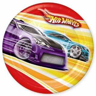Hot Wheels Dinner Plates Party Supplies: Toys & Games