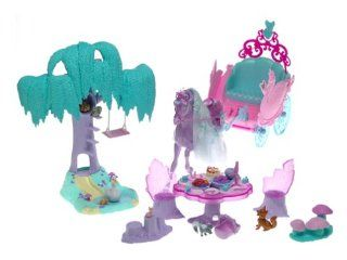 Barbie of Swan Lake Gift Set: Lila Unicorn and Carriage with Enchanted Forest Playset: Toys & Games