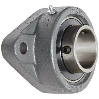 "Hub City FB260DRWX1 15/16 Flange Block Mounted Bearing, 2 Bolt, Normal Duty, Relube, Setscrew Locking Collar, Wide Inner Race, Ductile Housing, 1 15/16"" Bore, 2.409"" Length Through Bore, 6.189"" Mounting Hole Spacing: Industrial & Scienti"