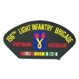 "196TH LIGHT INFANTRY BRIGADE* VIETNAM VETERAN W/ RIBBON BLACK PATCH(Can be sewn or ironed on jacket or hat) Patch 3""x5""(2 PATCHES PER ORDER): Everything Else"