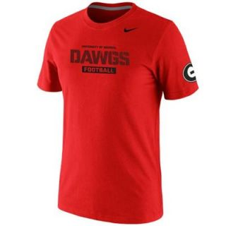 Nike Georgia Bulldogs 2013 Practice Team T Shirt   Red