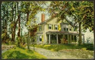 Dr Smith Home Author of America Lenox MA postcard 191?: Collectibles & Fine Art
