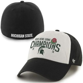 47 Brand Michigan State Spartans 2014 Rose Bowl Champions Freshman Franchise Fitted Hat   Black/White