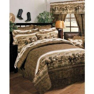 Blue Ridge Trading Wild Horses Queen Comforter Bedding Set