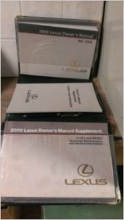 2000 Lexus RX 300 Owners Manual: Toyota Motor Co.: Books