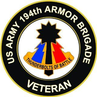 "US Army Veteran 194th Armored Brigade Unit Crest Decal Sticker 3.8"": Everything Else"