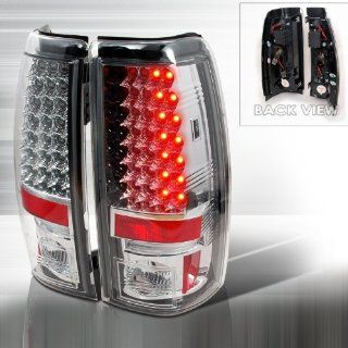 03 04 05 06 Chevy Silverado (except 3500) LED Tail Lights + Hi Power White LED Backup Lights   Chrome (Pair): Automotive