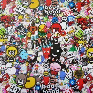 "JDM Anime Graffiti Sticker Bomb Vinyl Wrap Sticker Decal Film Sheet #194   12""X60"": Automotive"