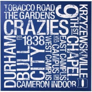 Duke Blue Devils 24 x 24 Square College Colors Subway Art Canvas