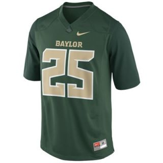 Nike Baylor Bears Youth #25 Game Football Jersey   Green