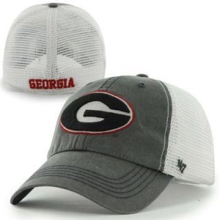 47 Brand Georgia Bulldogs Caprock Canyon Flex Hat   Gray/White