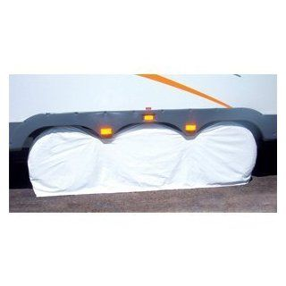 "Triple Axle Vinyl Tire Cover 27   29"" WHITE for Trailers, Camper Fits 14"" and 15"" Rim Sizes Like 205/75/15, 215/75/15, 225/75/15: Automotive"