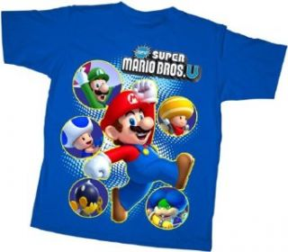 New Super Mario Bros. U   Nintendo Youth T shirt Clothing