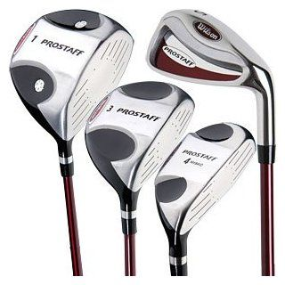 Wilson RH Mens ProStaff 360 Hybrid Woods/Irons Set : Golf Club Complete Sets : Sports & Outdoors