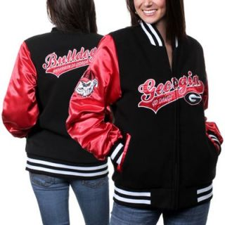 Georgia Bulldogs College Sweetheart Full Zip Jacket  Red/Black