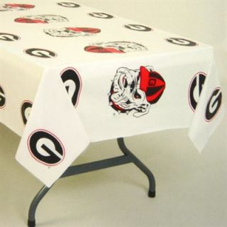 Georgia Bulldogs White Team Logo 54 x 108 Plastic Tablecover