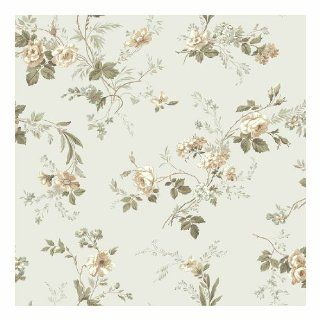York Wallcoverings GP7350SMP Keepsake Small Floral Trail 8 x 10 Wallpaper Memo Sample