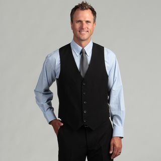 Kenneth Cole Reaction   Chaleco de traje para hombre, corte Slim, a rayas, negro Kenneth Cole Reaction Suit Separates