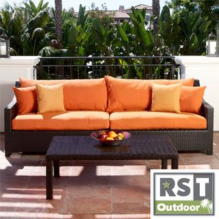 RST Outdoor Tikka Sofa and Coffee Table Set Patio Furniture RST Brands Sofas, Chairs & Sectionals