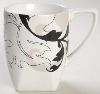 222 Fifth (PTS) Modern Scroll Mug, Fine China Dinnerware