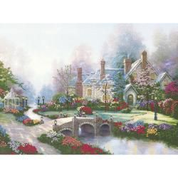 Thomas Kinkade Beyond Spring Gate Embellished Cross Stitch MCG Textiles Cross Stitch Kits