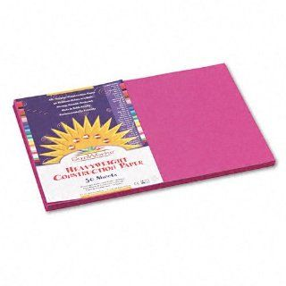 SunWorks : SunWorks Construction Paper, Heavyweight, 12 x 18, Magenta, 50 Sheets  :  Sold as 1 PK : Office Products