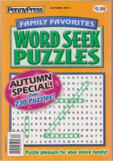Penny Press Family Favorites Word Seek Puzzles Magazine Autumn 2013: Various: Books