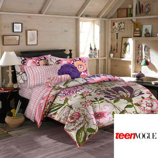 Teen Vogue Flora and Fauna Full/ Queen 3 piece Comforter Set Teen Bedding