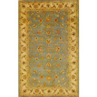 Indo Mahal Hand tufted Light Blue/ Ivory Rug (5'3 x 8'2) Herat Oriental 5x8   6x9 Rugs