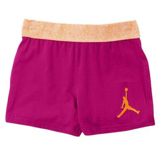 Jordan Flygirl Roll Over Shorts   Girls Preschool   Basketball   Clothing   Bright Citrus/Fusion Pink